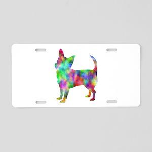 Multi Color Chihuahua Aluminum License Plate