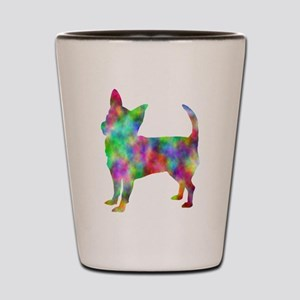 Multi Color Chihuahua Shot Glass