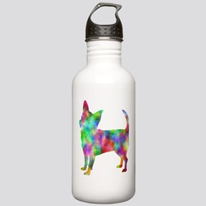 Multi Color Chihuahua Water Bottle