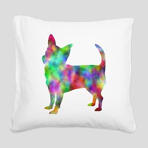 Multi Color Chihuahua Square Canvas Pillow