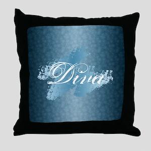 Diva Glitter Throw Pillow