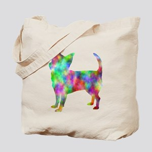 Multi Color Chihuahua Tote Bag