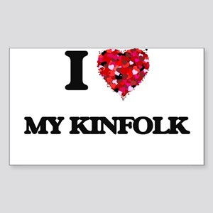 I Love My Kinfolk Sticker