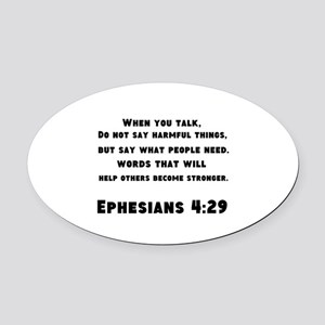 Ephesians 4 : 29 Oval Car Magnet