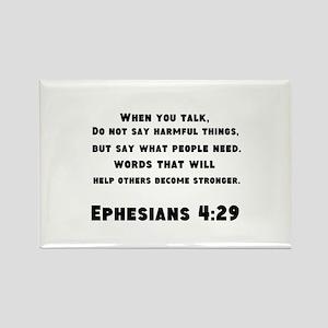 Ephesians 4 : 29 Rectangle Magnet