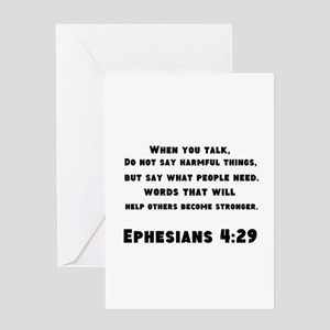 Ephesians 4 : 29 Greeting Card