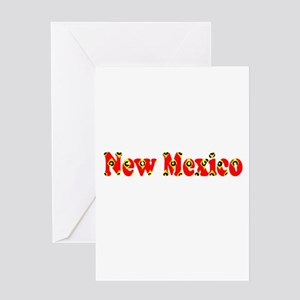 New Mexico Red Cool Pattern Jerry's Greeting Cards