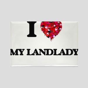 I Love My Landlady Magnets