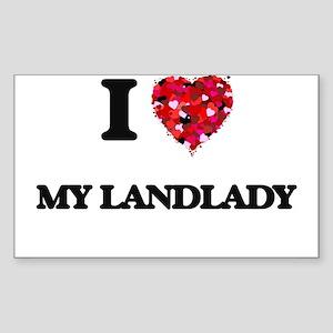 I Love My Landlady Sticker