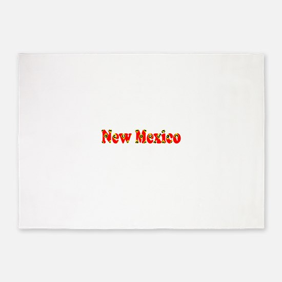 New Mexico Red Cool Pattern Jerry's 5'x7'Area Rug
