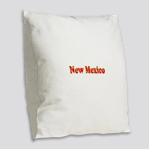 New Mexico Red Cool Pattern Je Burlap Throw Pillow