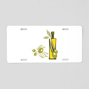 Olive Oil Aluminum License Plate
