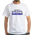 Blue State Prisoner White T-Shirt