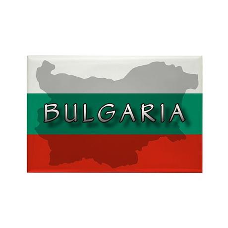 Bulgaria Flag Extra Rectangle Magnet