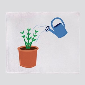 Water A Plant Throw Blanket