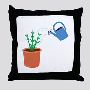 Water A Plant Throw Pillow