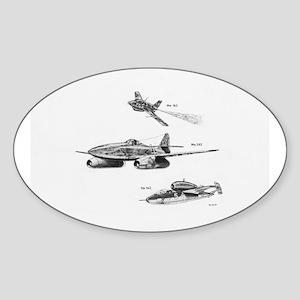 Messerschmitt Oval Sticker