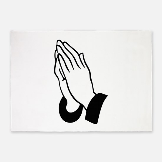 Praying Hands 5'x7'Area Rug