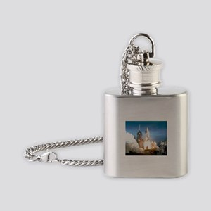Space Shuttle Columbia KSC Flask Necklace