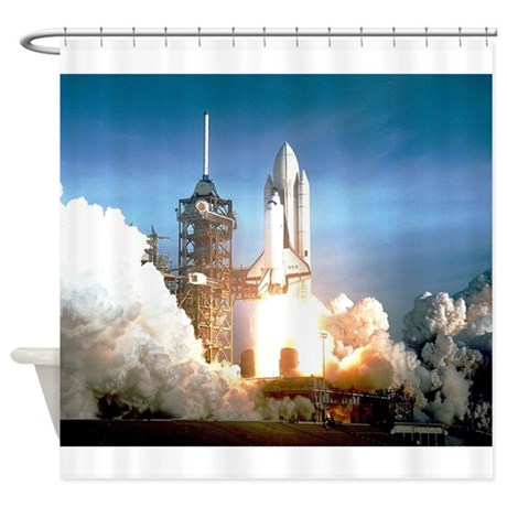 Space Shuttle Columbia KSC Shower Curtain By Admin CP28331633