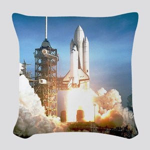 Space Shuttle Columbia KSC Woven Throw Pillow
