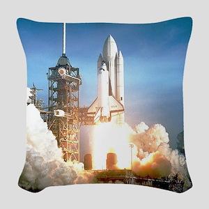 Space Shuttle Columbia KSC Woven Throw Pillow