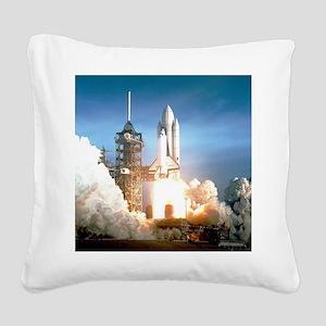 Space Shuttle Columbia KSC Square Canvas Pillow