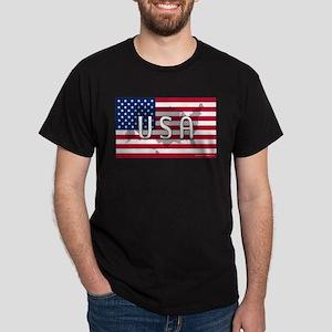 USA Flag Extra Dark T-Shirt