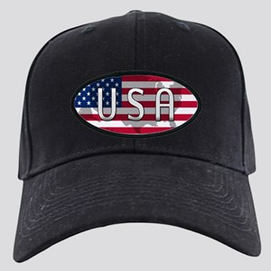 USA Flag Extra Black Cap