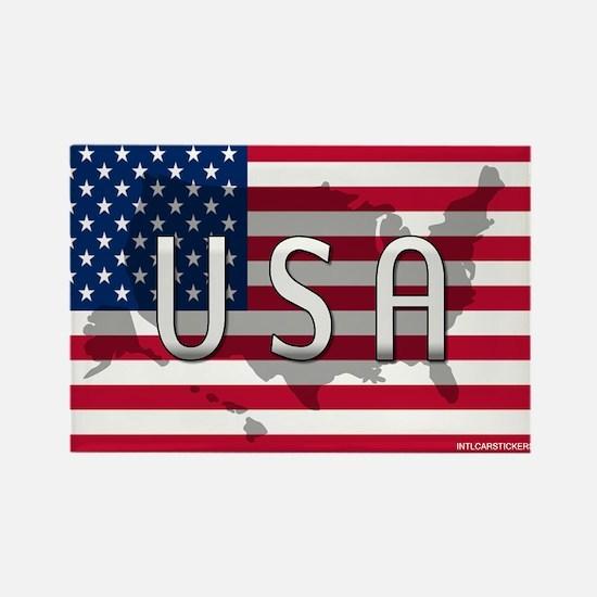 USA Flag Extra Rectangle Magnet