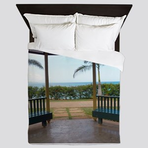 Gazebo-Hospital-Park-Montego-Bay Queen Duvet