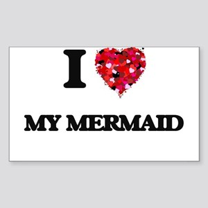 I Love My Mermaid Sticker