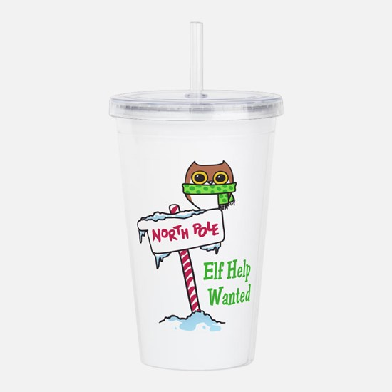 NORTH POLE HELP WANTED Acrylic Double-wall Tumbler