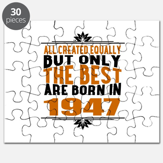 The Best Are Born In 1947 Puzzle