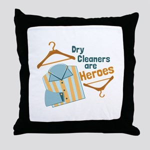 Dry Cleaners Throw Pillow
