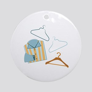 Shirt & Hangers Ornament (Round)