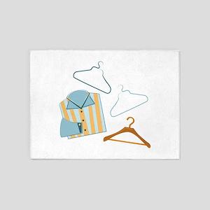 Shirt & Hangers 5'x7'Area Rug