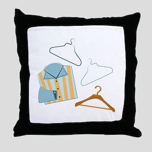 Shirt & Hangers Throw Pillow