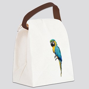 Blue Macaw Canvas Lunch Bag