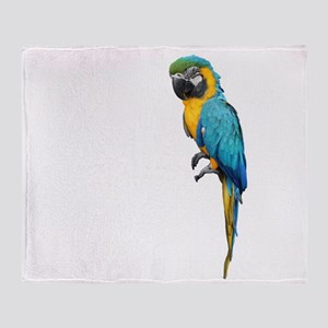Blue Macaw Throw Blanket