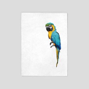 Blue Macaw 5'x7'Area Rug