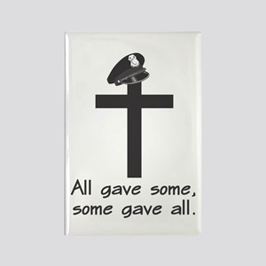 Police Memorial Cross Rectangle Magnet