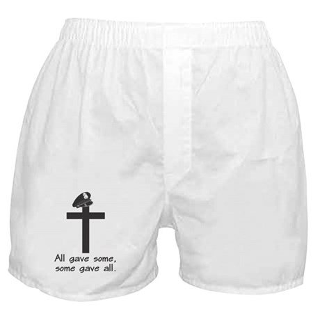Police Memorial Cross Boxer Shorts