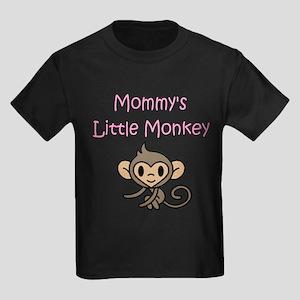 MOMMY'S LITTLE MONKEY Kids Dark T-Shirt