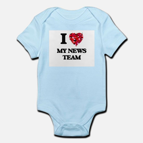 I Love My News Team Body Suit