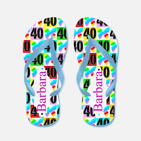 40th Butterfly Flip Flops