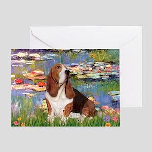 Lilies & Basse Greeting Card