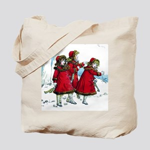 VICTORIAN ICE SKATERS Tote Bag