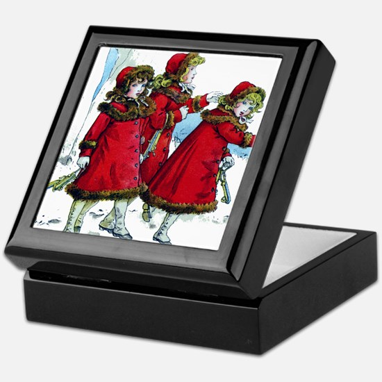 VICTORIAN ICE SKATERS Keepsake Box