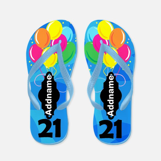 Pretty Blue 21st Flip Flops